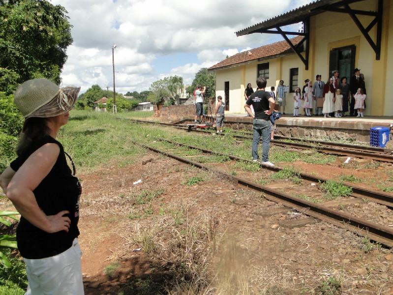 Gravação do documentário Partituras do Tempo, de Gladis Helena Wolff,  de Gaurama, no Rio Grande do Sul.