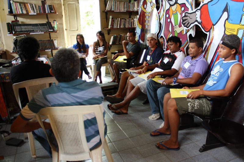 Oficina para realização do curta-metragem A Rapadura é Nossa, de Filomena Vasconcelos, em Correntes, Pernambuco